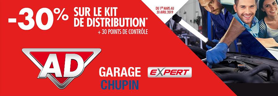 GARADE AD CHUPIN : 30% sur le kit de distribution