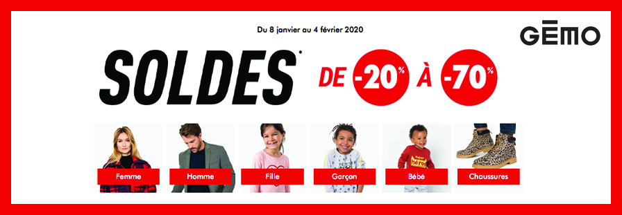 GEMO Soldes 2020