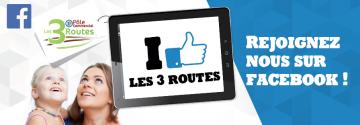 Retrouvez le Pôle commercial les 3 Routes sur FACEBOOK