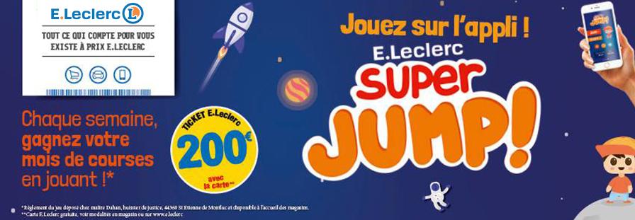 E.LECLERC : Jouez sur l'application E.LECLERC SUPER JUMP