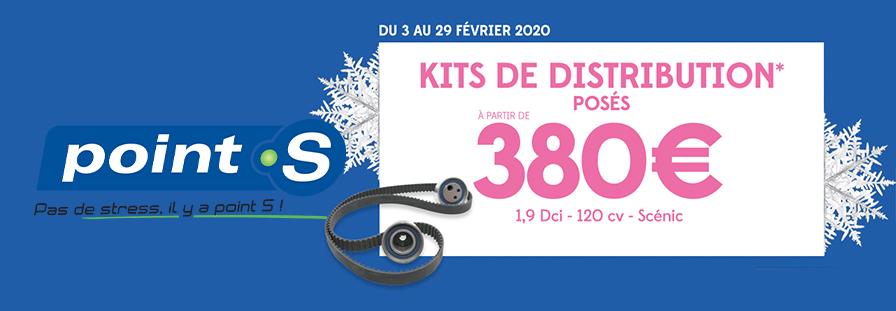 POINT S : KITS DE DISTRIBUTION POSES A PARTIR DE 380€