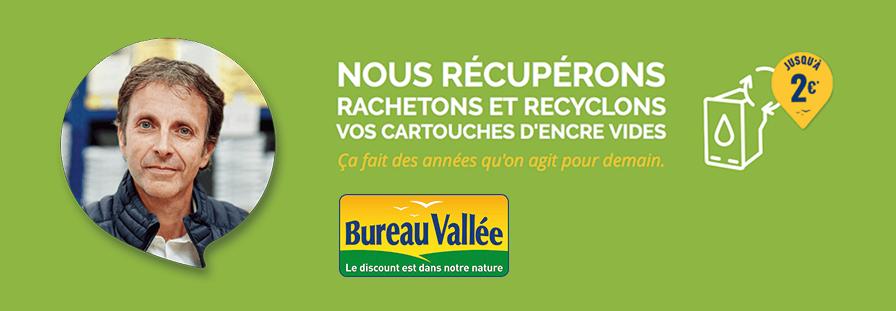 BUREAU VALLEE : nous rachetons vos cartouches d'encre