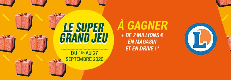 E.LECLERC : LE SUPER GRAND JEU 2020