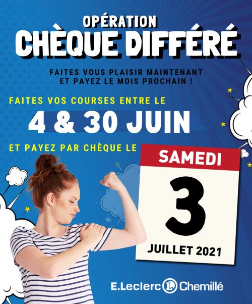Chèque différé E.Leclerc Chemillé